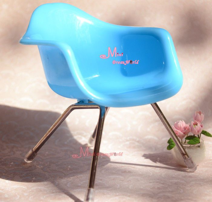 1/6 Barbie Blythe Dolls Dinning Room Furniture Shell Toy Blue Chair #Minidreamworld