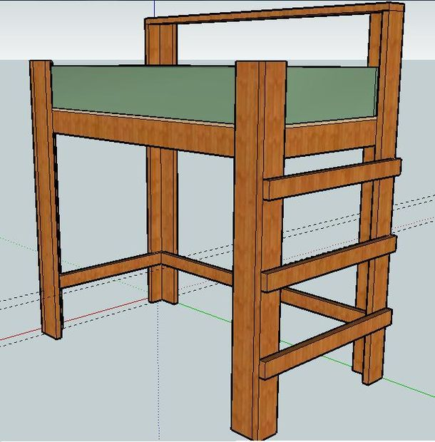 Instructables for a Loft Bed - under $100