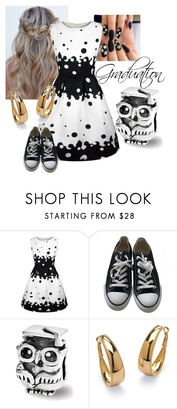 """""""8th Grade Graduation"""" by winnky on Polyvore featuring WithChic, Converse and Palm Beach Jewelry"""