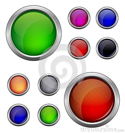 Set of isolated vector, glossy web button. Beautiful internet button.Empty on white background
