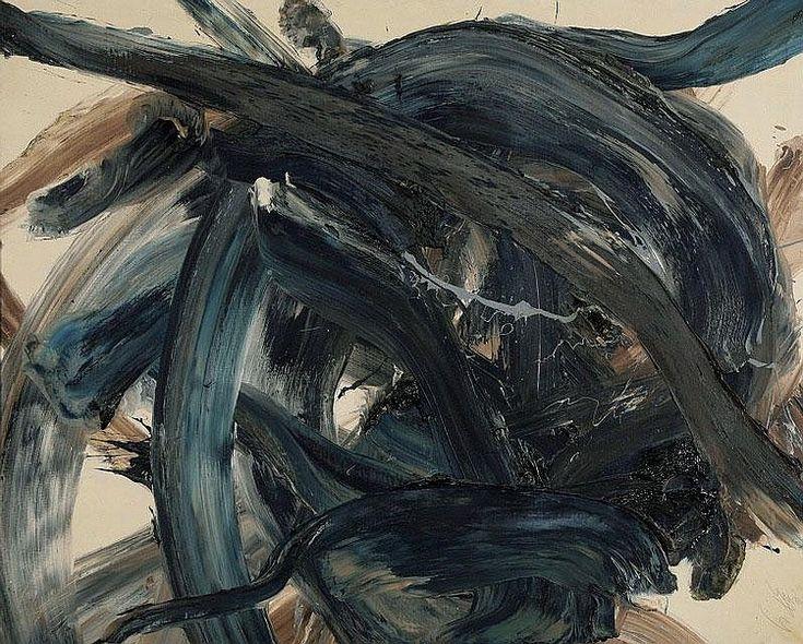 Kazuo Shiraga - Vaisravana, 1974, oil on canvas, 130 x 162 cm
