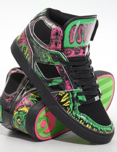 Osiris Shoes NYC 83 VLC High top - Black/Green/Mishka