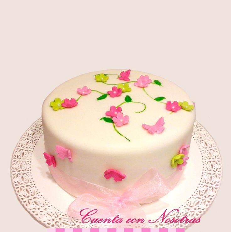 Torta mujeres Torta flores Torta mariposas