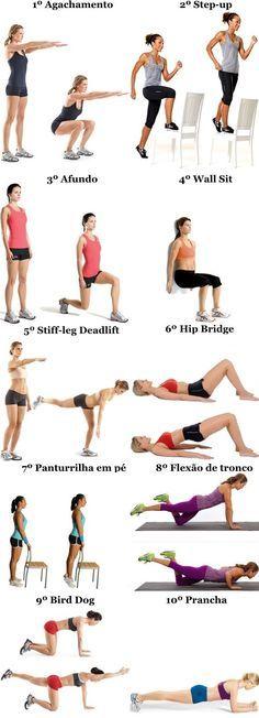 Treino para mulheres sem equipamento | Confira este programa de treino que permite trabalhar sobretudo a parte inferior (pernas) sem equipamento de musculação.