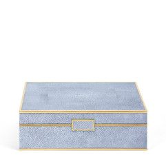 Blue Shagreen Large Jewelry Box - null Visit AERIN.com to explore the full collection.
