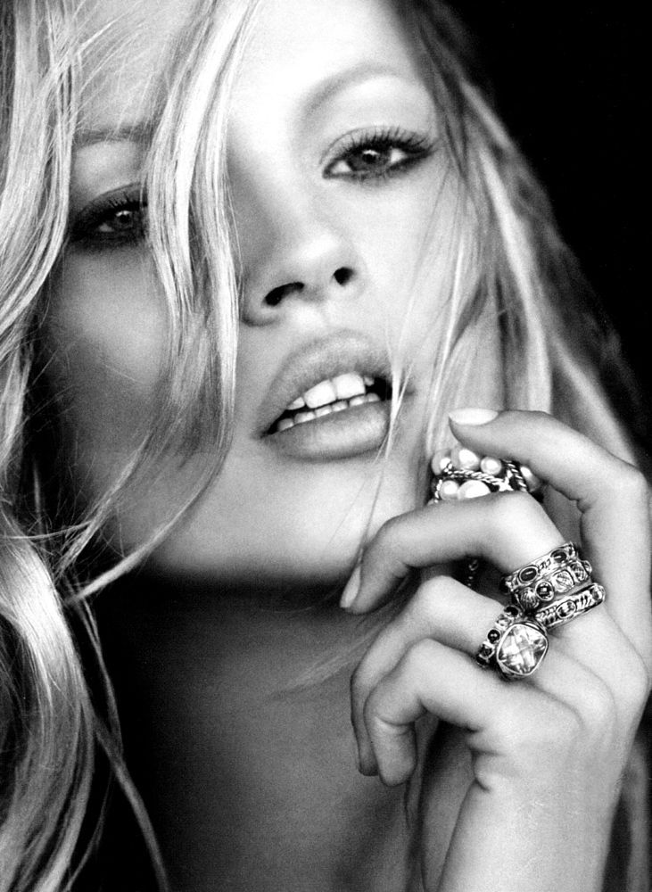 Kate Moss photographed by Peter Lindbergh for David Yurman _