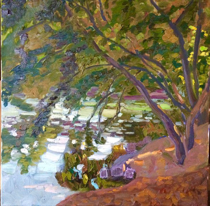 Irina iza autumn. river
