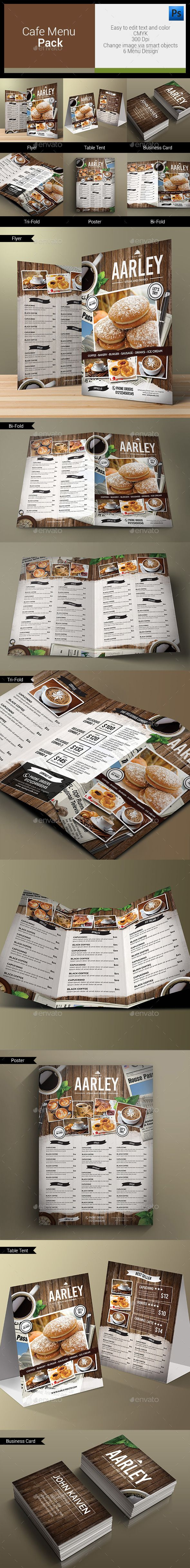 Cafe Menu Pack Template #design Download: http://graphicriver.net/item/cafe-menu-pack/12319050?ref=ksioks