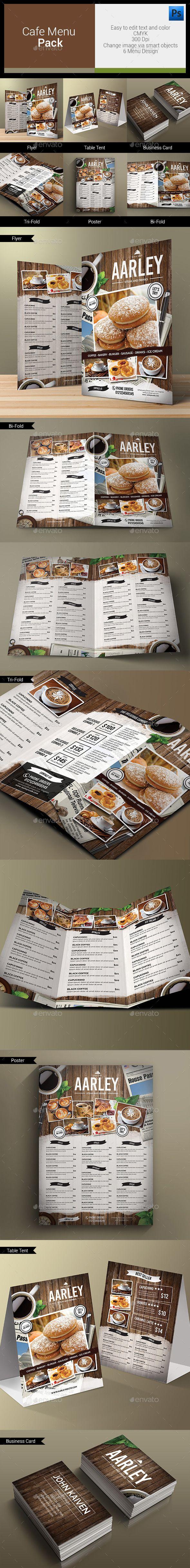 Cafe Menu Pack Template #design Download: http://graphicriver.net/item/cafe-menu-pack/12319050?ref=ksioks