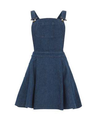 Blue Denim Dungaree Dress