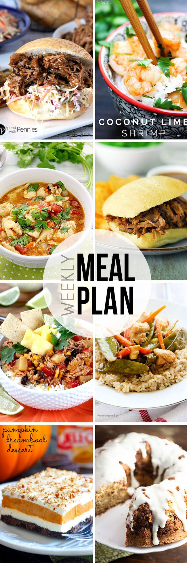 "STRESS FREE Weekly Meal Plan Sunday #13 so you always know ""What's For Dinner?"" before ever being asked. Top recipes from favorite bloggers who have done all your time consuming meal planning for you!"
