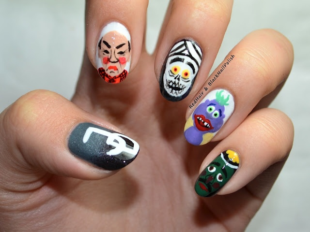 Jeff Dunham inspired nails! ...not my best work though :P