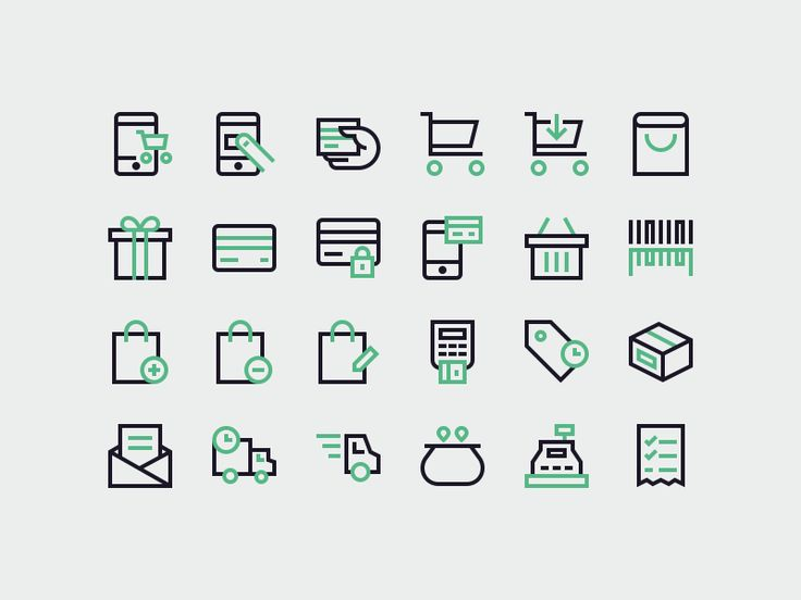 Shopping Icons by Sebastiano Guerriero