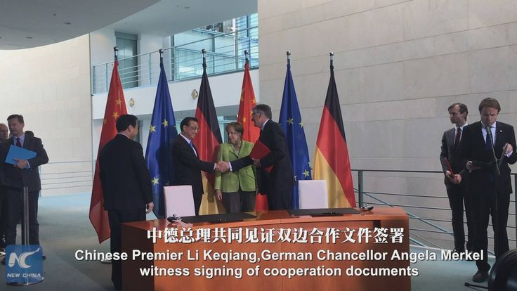 Visiting Chinese Premier Li Keqiang witnessed cooperation documents signing ceremony and held joint press conference with German Chancellor Angela Merkel on Thursday in Berlin. Li and Merkel attended China-Germany forum on innovation cooperation, where Li gave a speech. Li Keqiang then met German President Frank-Walter Steinmeier.