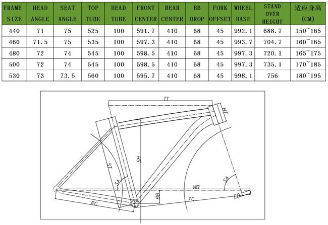 46cm To 52cm Road Bikes Frame With 700c Wheel Size Road Bike
