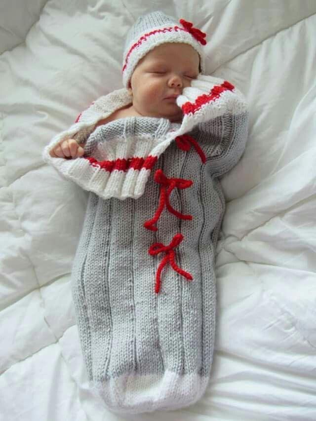 Cocon tricot  pour bébé                                                                                                                                                                                 Plus
