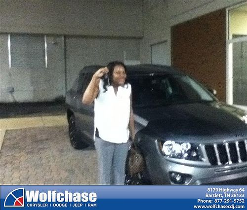 Thank you to Kasey Martin on your new 2012 Jeep Compass from Tom Cantrell and everyone at Wolfchase Chrysler Jeep Dodge!