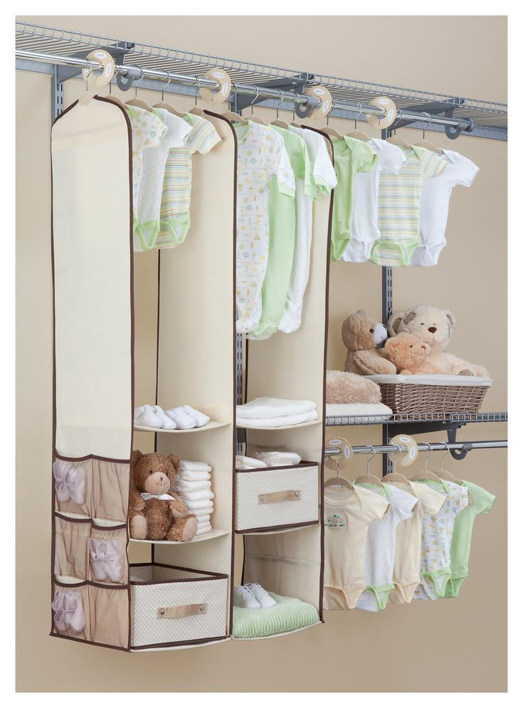 25 best ideas about baby closet dividers on pinterest for Nursery hanging storage