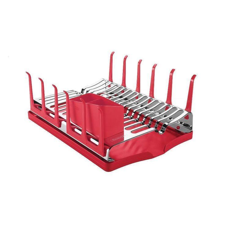 Escorredor de Louça Aco Inox Vermelho - 61535/060 - Tramontina