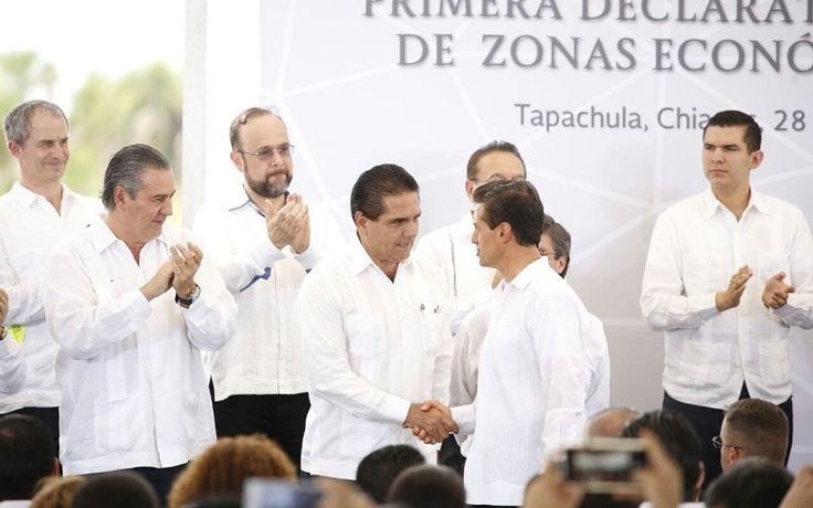 El Presidente Enrique Peña Nieto firma la Primera Declaratoria Presidencial de Zonas Económicas Especiales, que incluye la oficialización de Lázaro Cárdenas, Michoacán-La Unión, Guerrero; el gobernador resaltó que esta oficialización ...