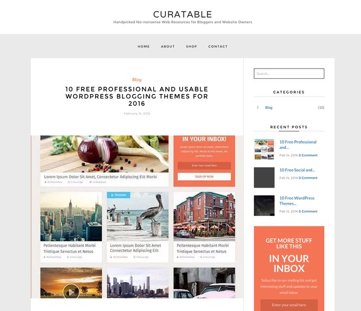 The Poris Free WordPress Theme. More info: http://curatable.net/20-free-wordpress-themes-i-would-actually-use-to-start-a-new-blog-in-2016/