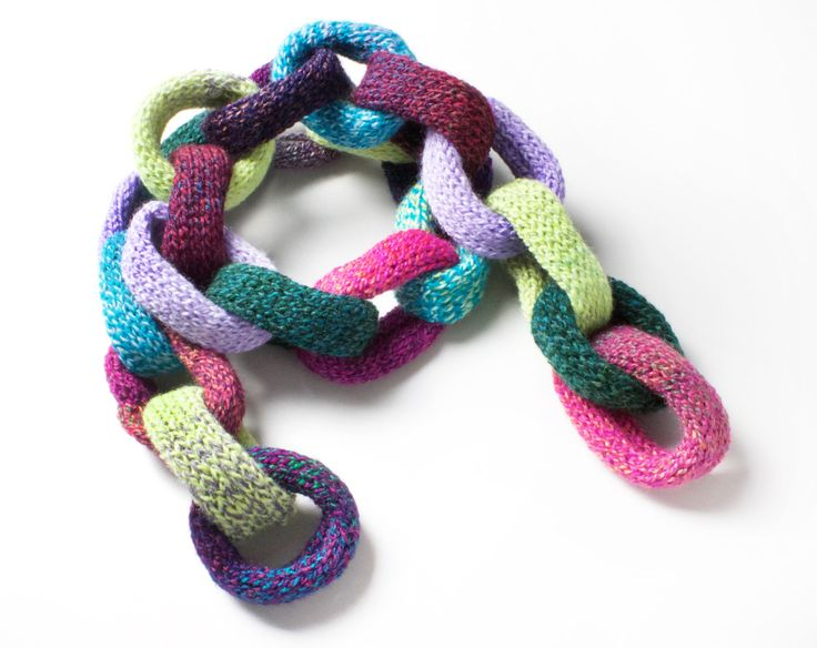 Gumdrops Chain Scarf  Unique Warm Winter Scarf  Cute and Colourful Chain Link Scarf  Unusual Christmas gift for her girlfriend daughter (34.00 GBP) by StripyKite