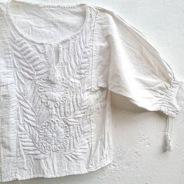 Embroidered girls blouse by @elskanshop on Instagram