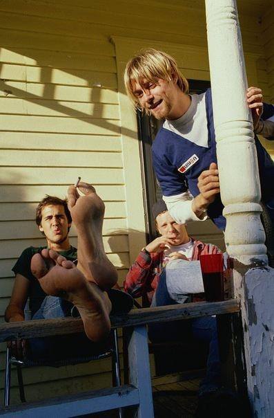 Kurt and Krist Joking as usual!