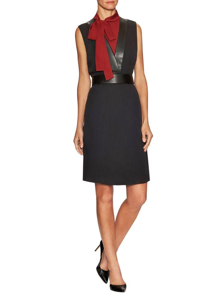 Silk Self Tie Collar Sheath Dress by Gucci Clothing & Accessories at Gilt