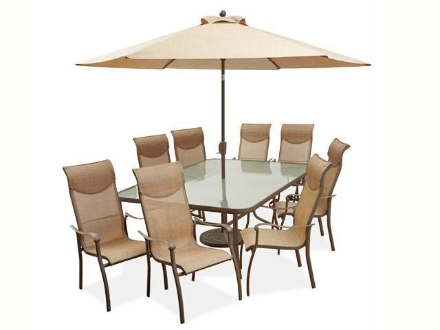 Hideaway 9 Pc Dining Set Fortunoff Backyard Store Aluminum Patio Furniture Furniture Tempered Glass Table Top