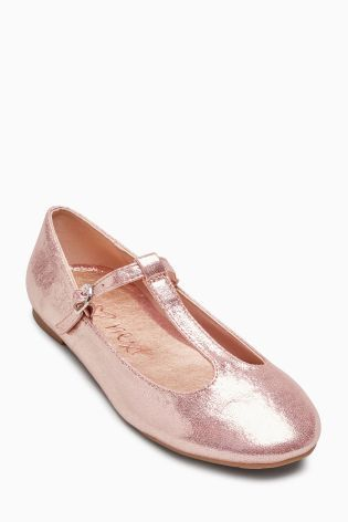 Buy Metallic Pink T-Bar Shoes (Older Girls) from the Next UK online shop