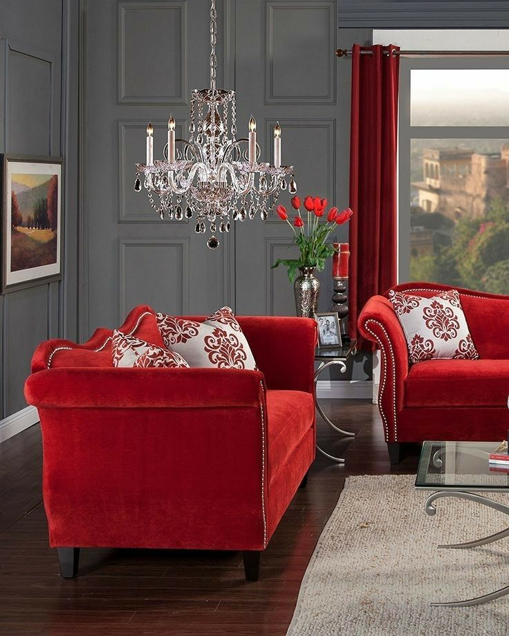 Pin by Lucinda Boyd on Living room sets in 2019 | Red sofa, Sofa ...
