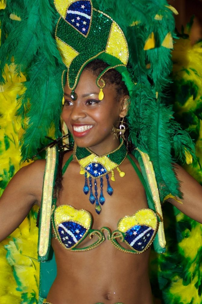 Beautiful Afro-Brazilian woman at carnival in Rio De Jineiro!