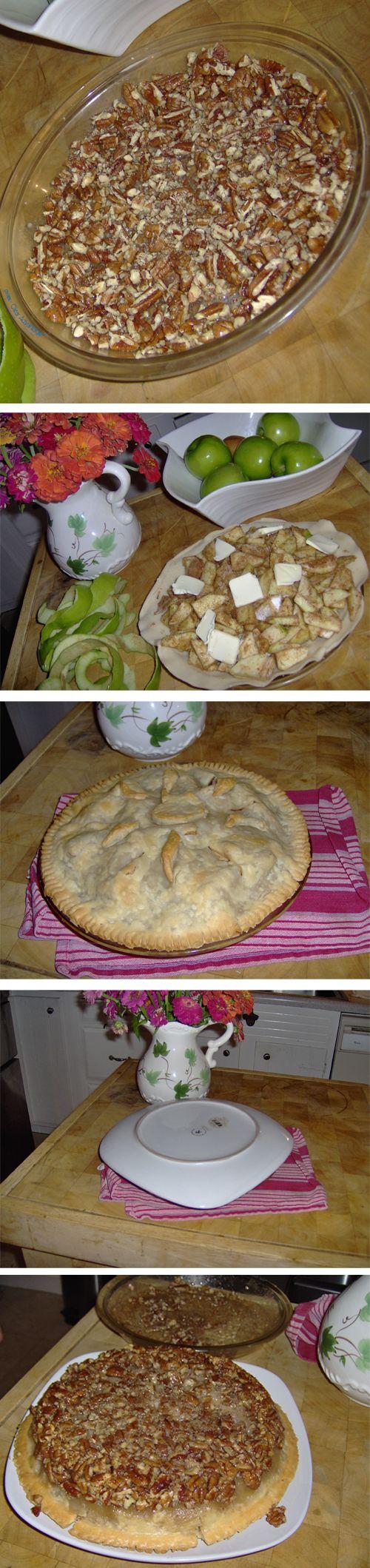 pecan-apple-upside-down-pie | Yummy Desserts | Pinterest