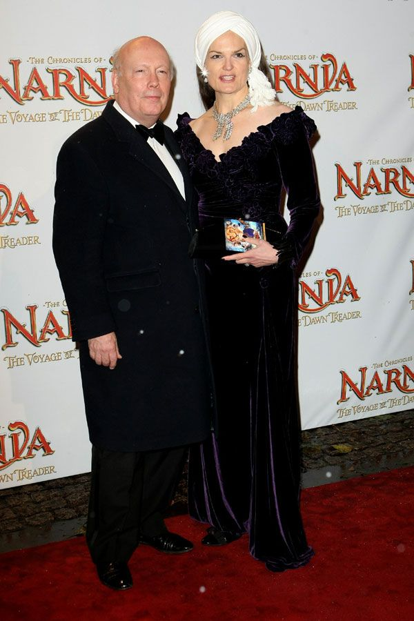 Julian Fellowes (creator of downtown abbey) and wife at The Chronicles Of Narnia premiere