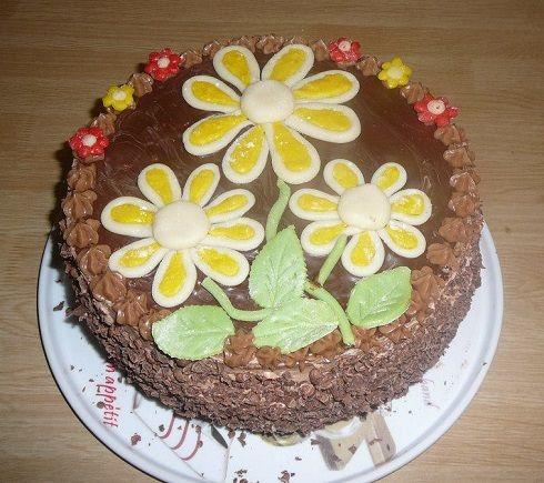 Ořechovo čokoládový letní dortík