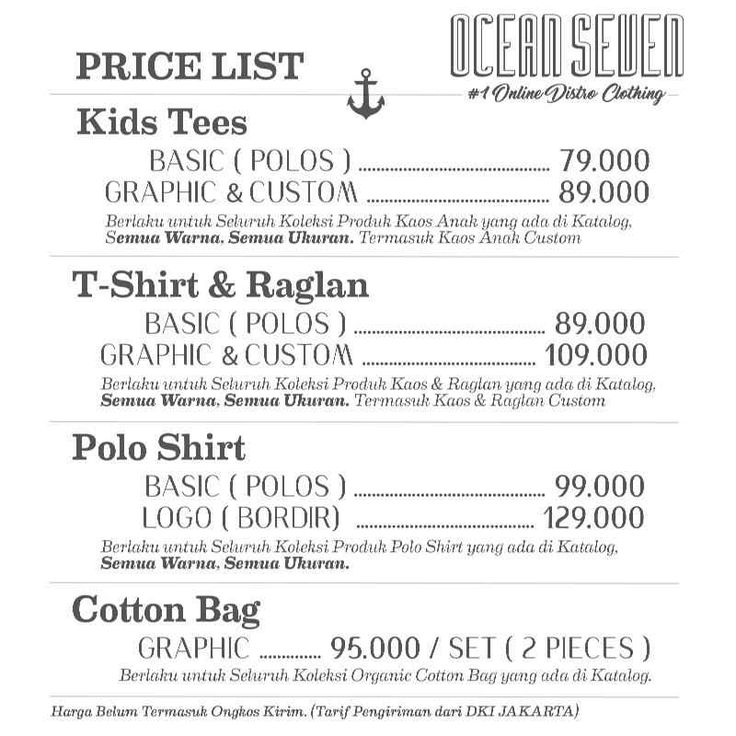 Price & Contact Us @ Ocean Seven T-Shirt FactoryOcean Seven T-Shirt Factory