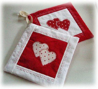 Creare per Hobby: Cucito Creativo: altre presine per San Valentino
