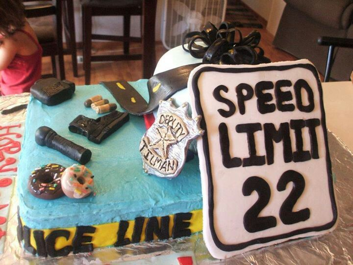 22nd police birthday cake