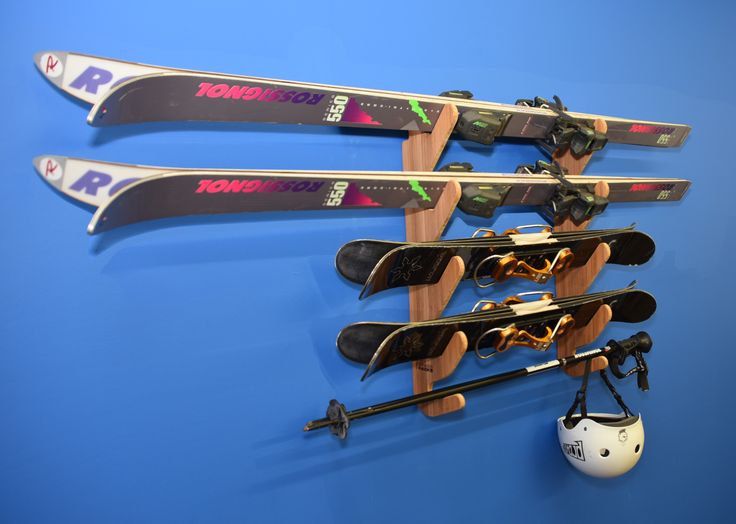 Grassracks Hallsteiner Quad Bamboo Ski Rack. Quite possible the best way to display your skis. #skihouse