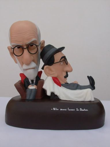 FREUD-PESSOA      by   CONSTANTINOS  LC  terracotta, metal wire and acrilic paint http://constantinos.com.sapo.pt/