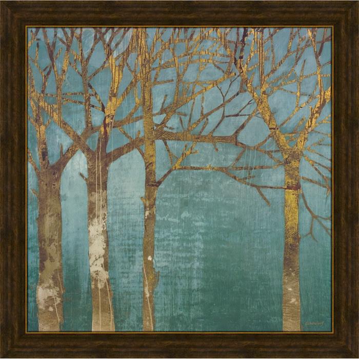 Golden Day Turquoise Framed Print