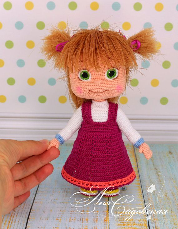 PLEASE NOTE! That this is a pattern only - not a finished project! ******************************** This pattern is written in English language (USA terminology). SKILL LEVEL: upper intermediate ******************************** You can buy the yarn set for crocheting this doll https://www.etsy.com/ru/listing/493180819/yarn-set-for-crocheting-masha?ref=shop_home_active_1 ******************************** MATERIALS AND TOOLS *******************************...