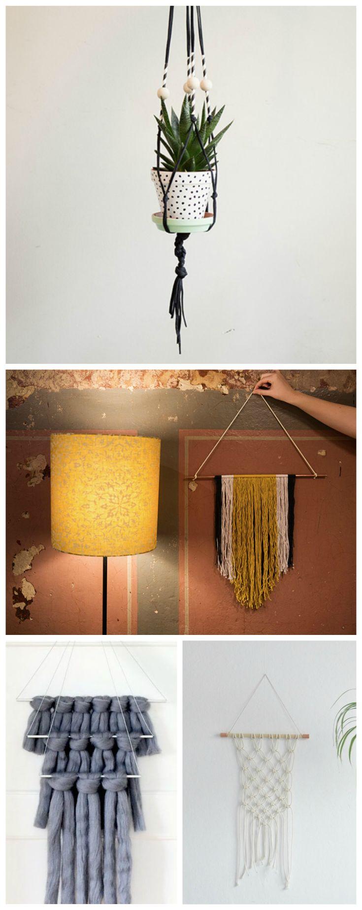 als wanddeko oder f r h ngepflanzen die sch nsten ideen f r makramee diys diy tutorials for. Black Bedroom Furniture Sets. Home Design Ideas