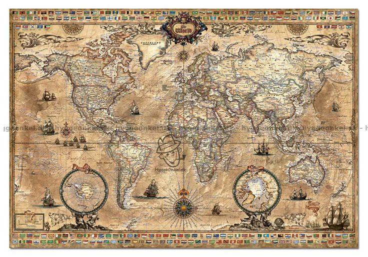 Antik världskarta, 1000 bitar by Boardgamer