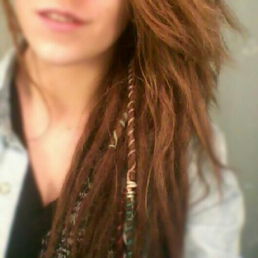 girls with dreads. I think it looks so cool but I don't know if I could pull it off or not.
