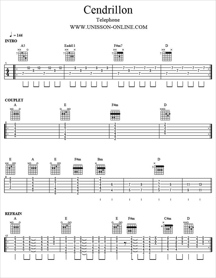 Cendrillon-Telephone-Tablature-Guitar-Pro                                                                                                                                                                                 Plus