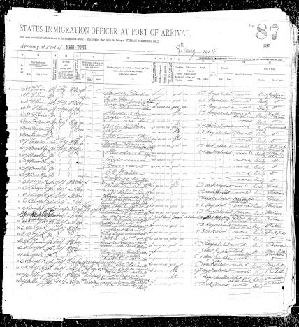 Ellis Island Free Port Of New York Passenger Records Search