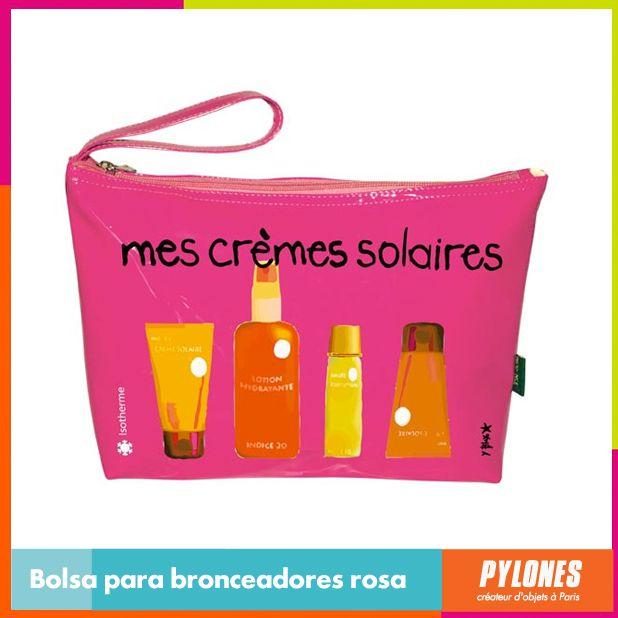 Bolsa para bronceadores rosa #SemanaSanta #Santo #Vacaciones  @pylonesco