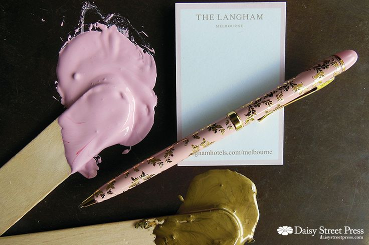 Mixing letterpress inks to match the Langham Hotel stationery – think I've nailed it!